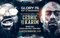 Cedric Doumbe defends the strap against Karim Ghajji at GLORY 76