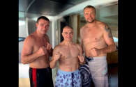 Shihan Ivo Kamenov, kickboxing legends Peter Aerts and Semmy Schilt held a training